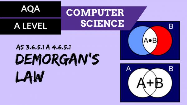 AQA A'Level SLR16 De Morgan's law