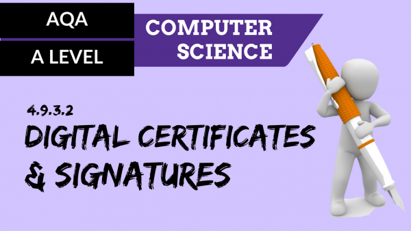 AQA A'Level SLR21 Digital certificates and signatures