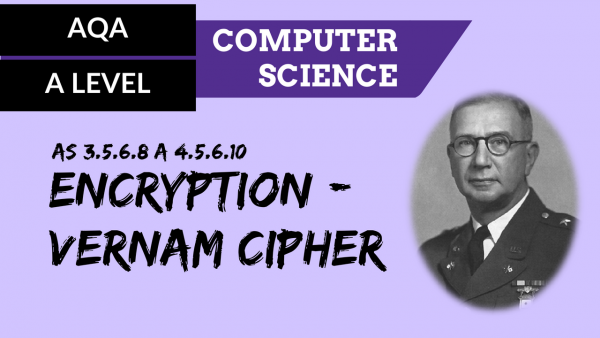 AQA A'Level SLR13 Encryption – Vernam cipher