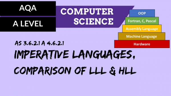 AQA A'Level SLR15 Imperative languages, comparison of LLL & HLL