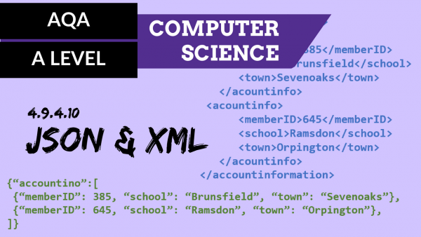AQA A'Level SLR22 JSON and XML
