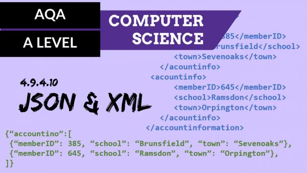 AQA A'Level SLR22 JSON and XML