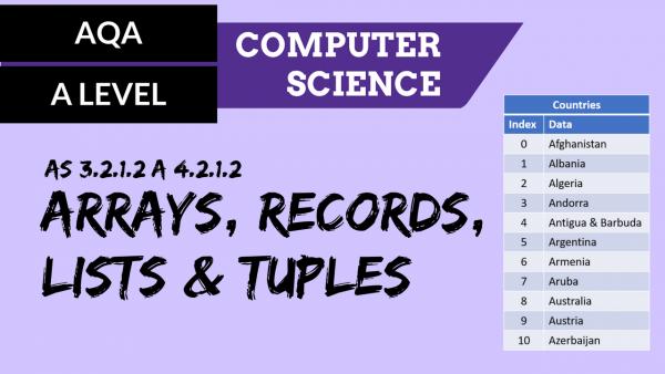 AQA A'Level SLR04 Arrays, records, lists & tuples