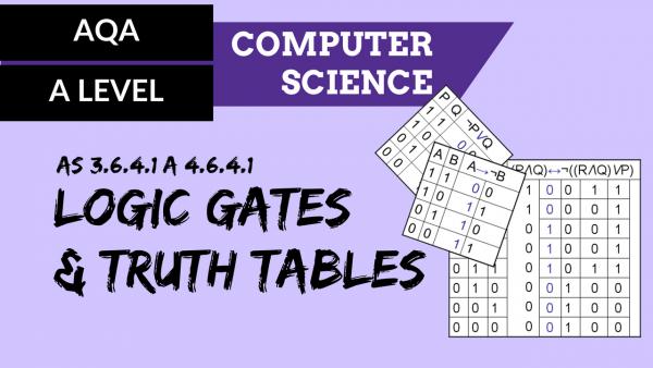 AQA A'Level SLR16 Logic gates and truth tables