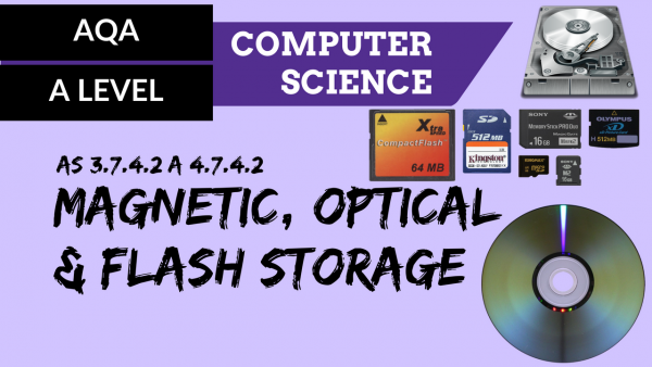 AQA A'Level SLR18 Magnetic, optical and flash storage