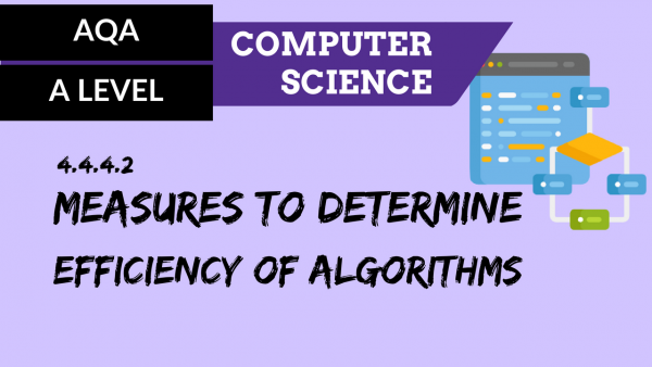 AQA A'Level SLR08 Measures to determine efficiency of algorithms