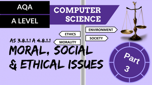 AQA A'Level SLR19 Moral, social & ethical issues part 3