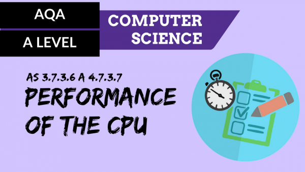 AQA A'Level SLR17 Performance of the CPU