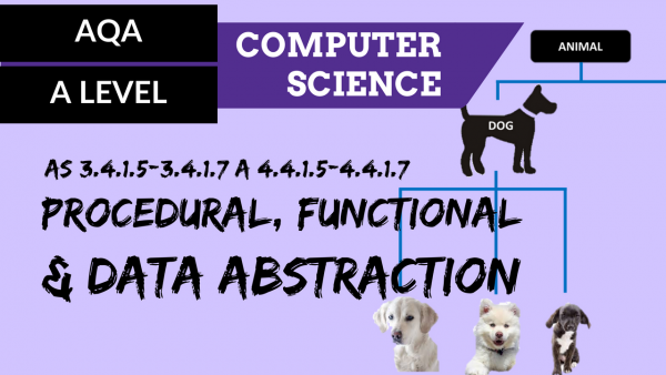 AQA A'Level SLR06 Procedural, functional & data abstraction