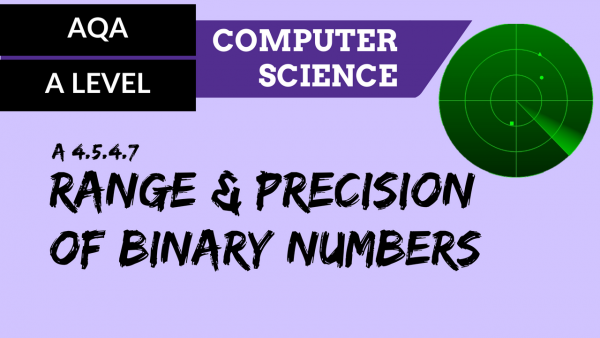 AQA A'Level SLR11 Range & precision of binary numbers
