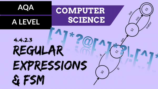 AQA A'Level SLR07 Regular expression and FSM