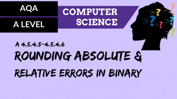 AQA A'Level SLR11 Rounding, absolute & relative errors in binary