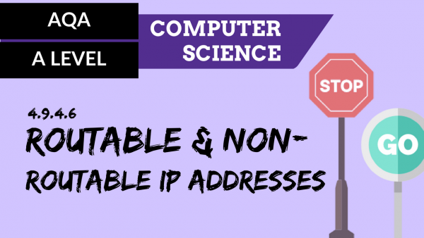 AQA A'Level SLR22 Routable and non routable IP addresses