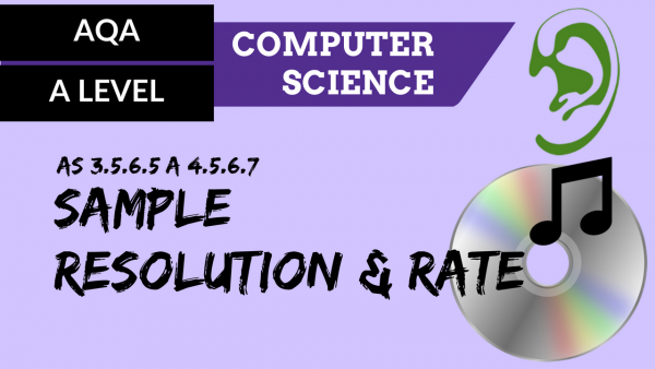 AQA A'Level SLR13 Sample resolution and rate