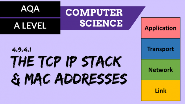 AQA A'Level SLR22 The TCP IP stack and MAC addresses