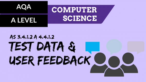 AQA A'Level SLR06 Test Data & user feedback