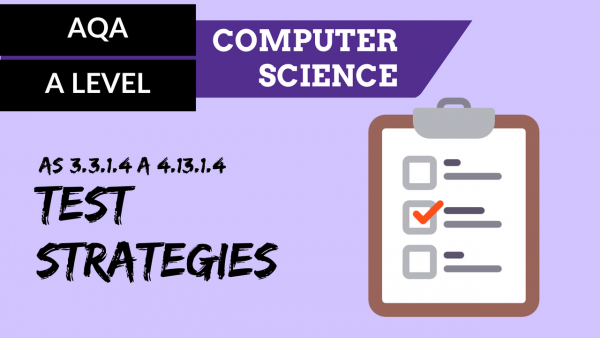 AQA A'Level SLR27 Test strategies