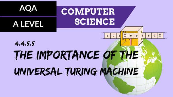 AQA A'Level SLR09 The importance of the Universal Turing machine