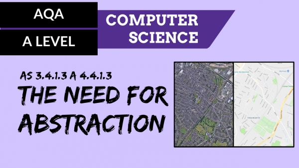 AQA A'Level SLR06 The need for abstraction