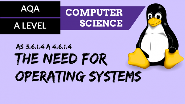 AQA A'Level SLR14 The need for operating systems