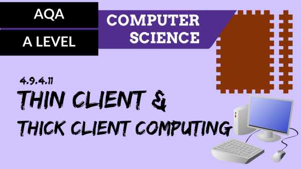 AQA A'Level SLR22 Thin client and thick client computing