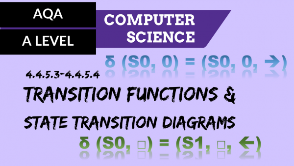 AQA A'Level SLR09 Transition functions & state transition diagrams