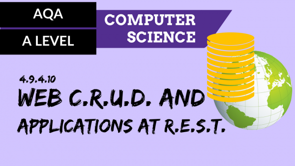 AQA A'Level SLR22 Web CRUD and applications at REST