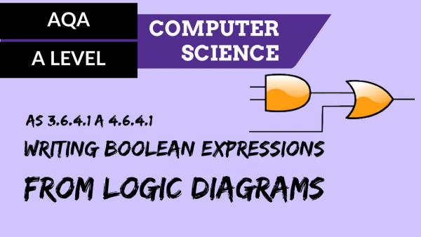 AQA A'Level SLR16 Writing Boolean expressions from logic diagrams