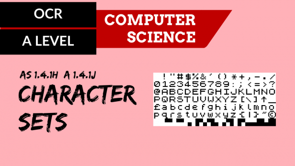 OCR A'LEVEL SLR13 Character Sets