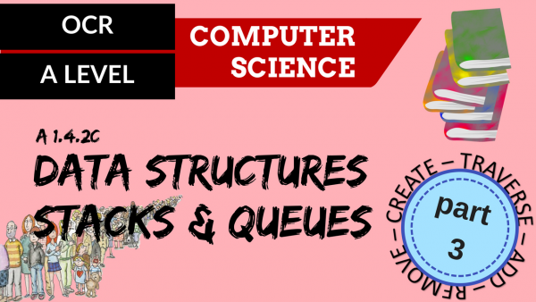 OCR A'LEVEL SLR14 Data structures C,T,A,R part 3, stacks & queues