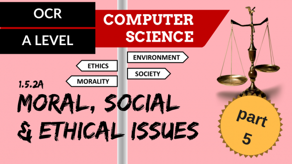 OCR A'LEVEL SLR17 Moral, social & ethical issues Part 5