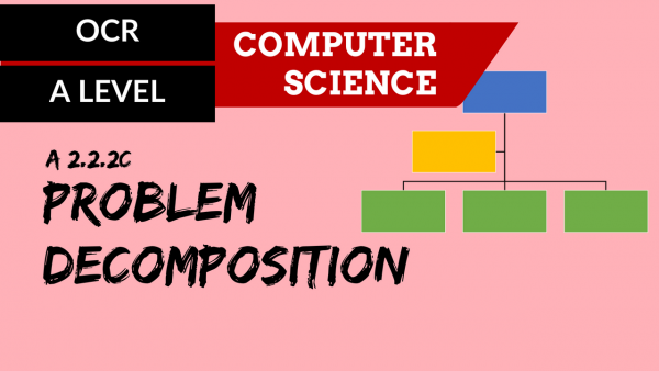 OCR A'LEVEL SLR24 Problem decomposition