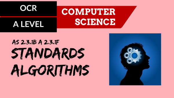 OCR A'LEVEL SLR25 Standard algorithms