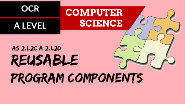 OCR A'LEVEL SLR19 Reusable program components