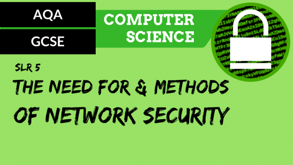 AQA GCSE SLR5 The need for and methods of network security