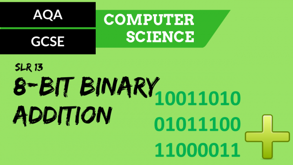AQA GCSE SLR13 Adding three 8 bit binary integers