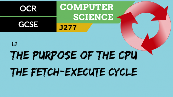 OCR GCSE (J277) SLR 1.1 The purpose of the CPU – The fetch-execute cycle