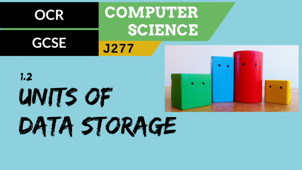OCR GCSE (J277) SLR 1.2 The units of data storage