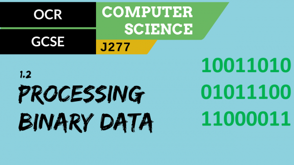 OCR GCSE (J277) SLR 1.2 How data needs to be converted into binary to be processed by a computer