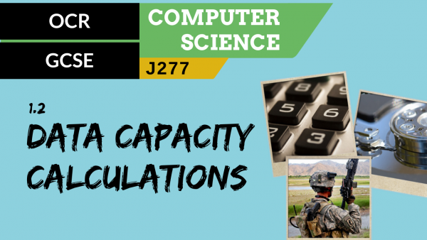 OCR GCSE (J277) SLR 1.2 Data capacity and calculation of data capacity requirements
