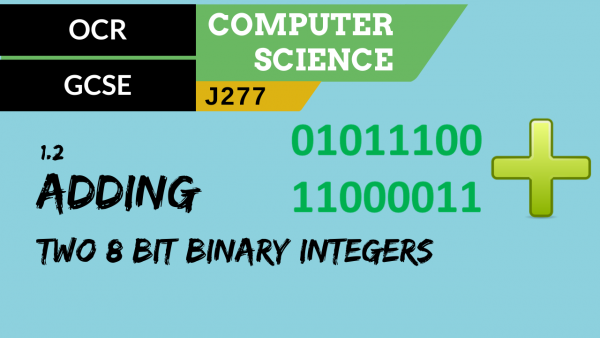 OCR GCSE (J277) SLR 1.2 Adding two 8 bit binary integers