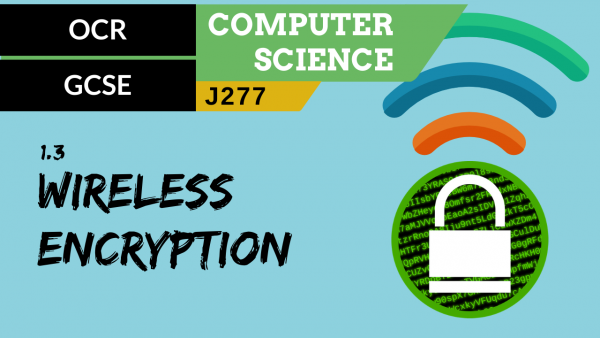 OCR GCSE (J277) SLR 1.3 Wireless encryption