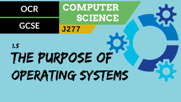 OCR GCSE (J277) SLR 1.5 The purpose and functionality of operating systems