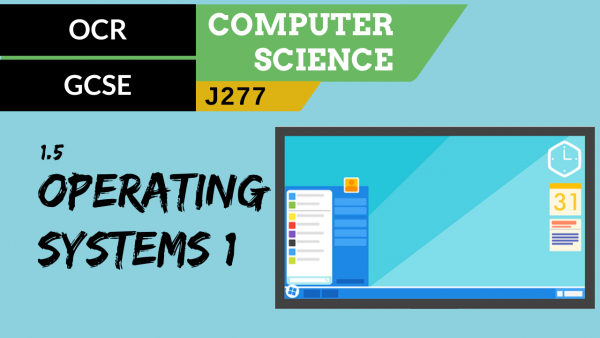 OCR GCSE (J277) SLR 1.5 Operating systems part 1