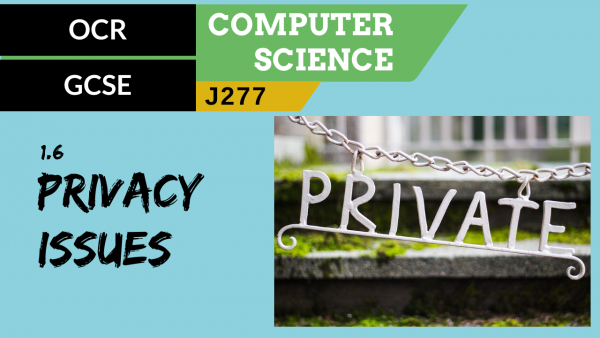 OCR GCSE (J277) SLR 1.6 Privacy issues