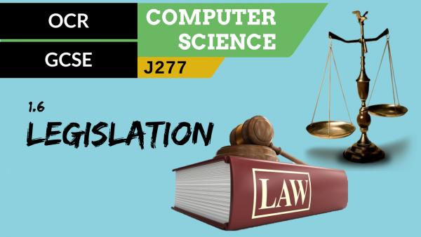OCR GCSE (J277) SLR 1.6 Legislation relevant to computer science