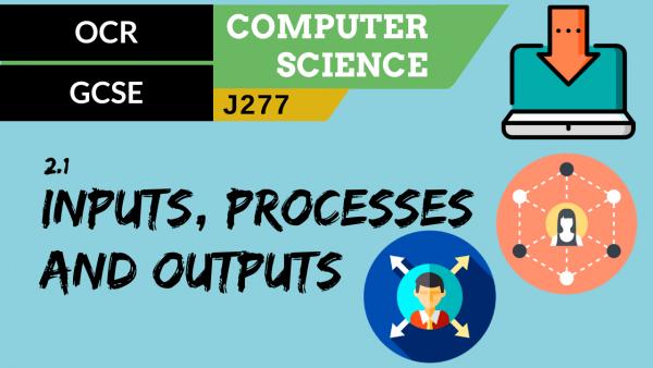 OCR GCSE (J277) SLR 2.1 Inputs, processes and outputs
