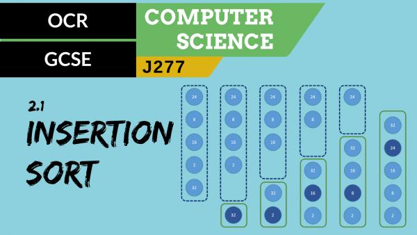 OCR GCSE (J277) SLR 2.1 Insertion sort