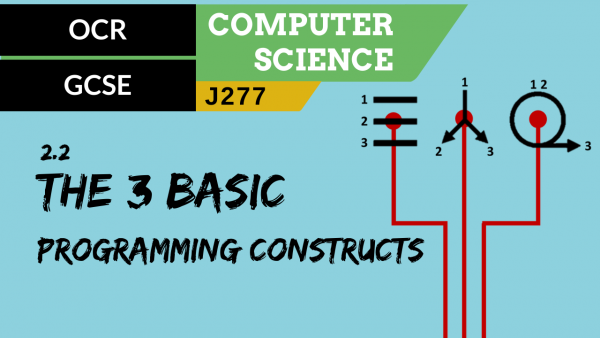 OCR GCSE (J277) SLR 2.2 The use of the three basic programming constructs