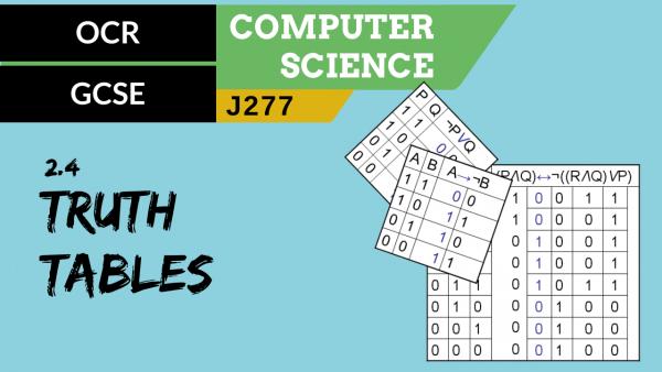 OCR GCSE (J277) SLR 2.4 Truth tables